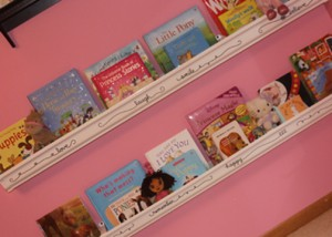 Girls Rain Gutter Bookshelves With Flare A Spotted Pony