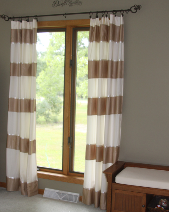 Gold And White Striped Curtains Red Striped Curtains