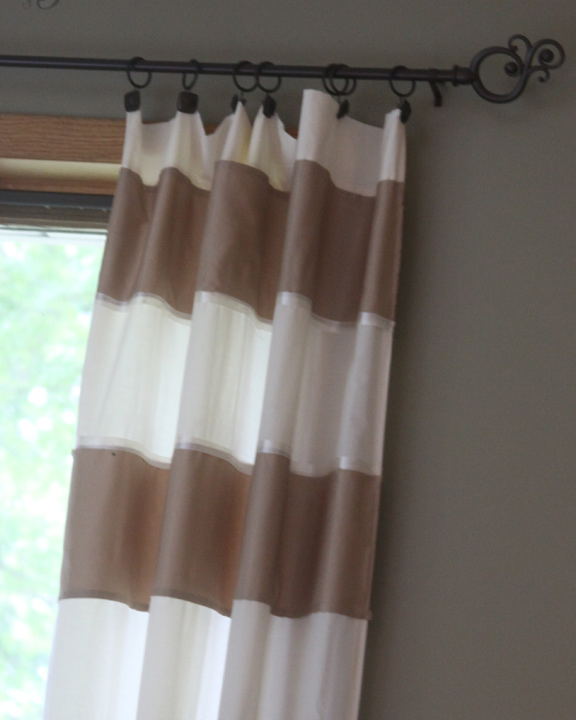 I Hung Them Using Some Curtain Clips That I Already Had ( I Believe They  Were From Target) And A Inexpensive Curtain Rod That I Found At The Dollar  General ...