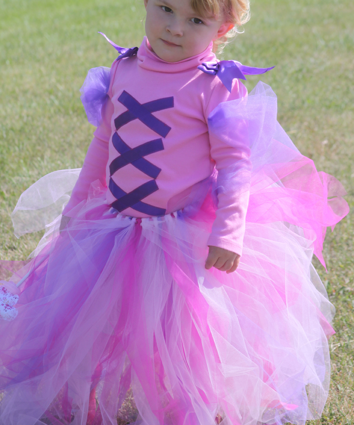 Rapunzel Inspired Princess Costume Using A Tulle Tutu A Spotted Pony
