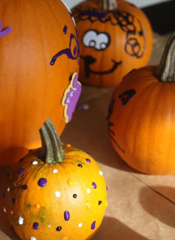 Decorate Pumpkins With Fabric Paint And 3d Stickers A