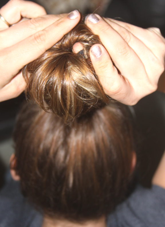 How to do a sock bun with fine hair