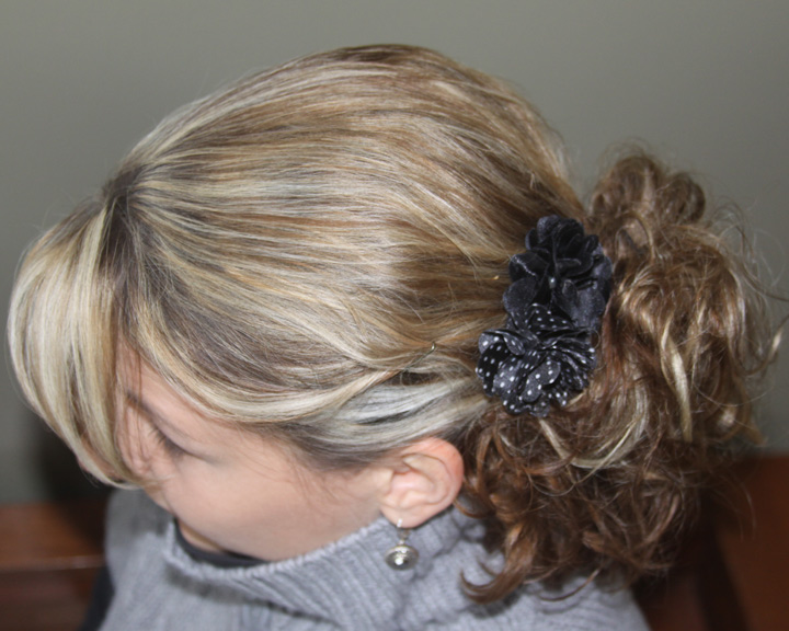 Hairstyle Using Bun : Fancy Five Minute Hairstyle Using Overnight Sock Bun Curls A Spotted ...