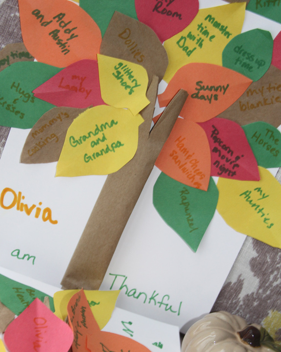 thanksgiving kid s craft kid s thankful tree a spotted pony