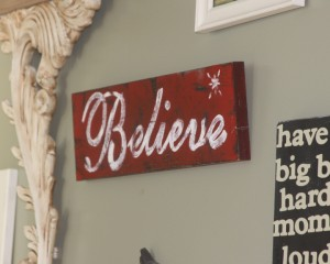 Rustic Christmas Decoration – Do It Yourself Believe Sign ...