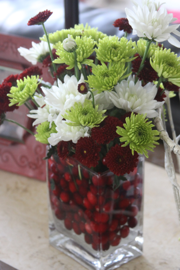 Make Three Beautiful Christmas Flower Arrangements Including A Centerpiece With Under 15 00 A