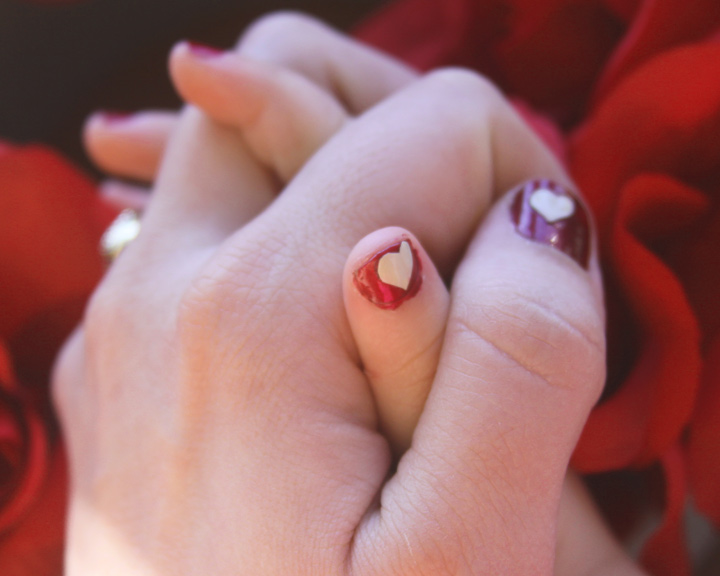Valentines Day Inspired Nail Art – Use A Cricut Machine And Vinyl To ...