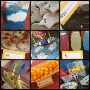 Mario Birthday Party Complete With Mario Themed Food And