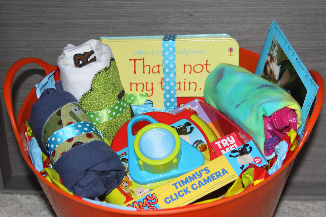 Baby Boy Gifts For 1st Birthday : Simple gift basket for a first birthday and getting your