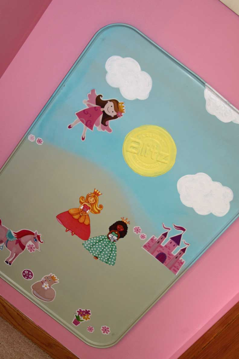 magnetic wall art and interactive princess toy a spotted pony