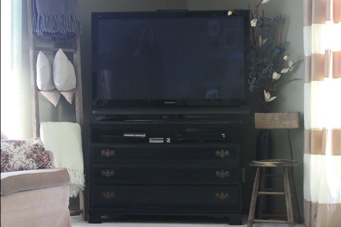 Repurpose An Old Dresser Into An Entertainment Center With