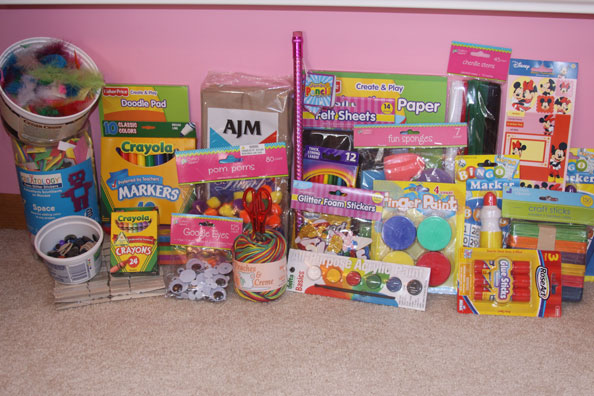 Great Gift Idea For Kids Of Any Age Craft Basket Complete With