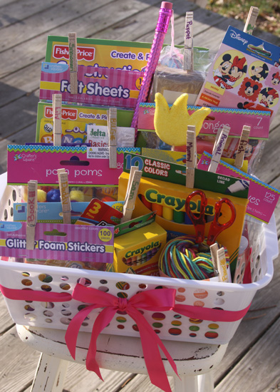 this is definitely one of my all time favorite gifts to give for birthdays especially for toddlers and preschool aged kids a simple storage basket filled
