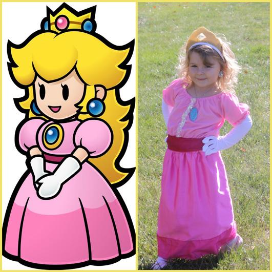 Kid's DIY Princess Toadstool And Princess Peach Costumes | A ...