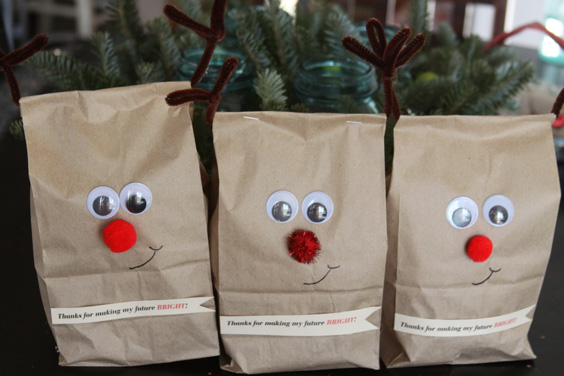 How to make cute homemade christmas gift bags