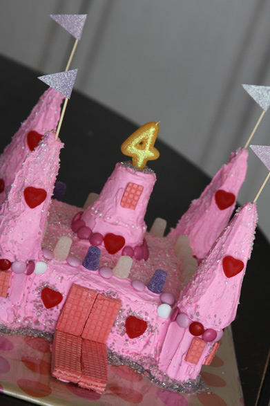 Princess Castle Birthday Cake From Mix And Ice Cream Cones