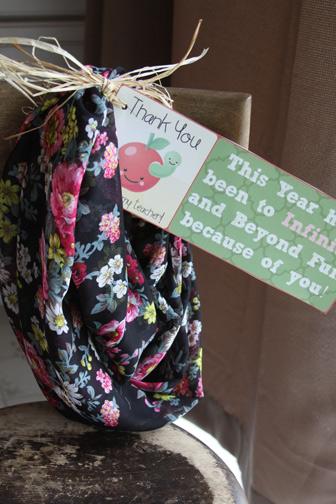 inexpensive teachers infinity scarf gift