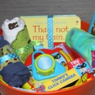 Simple Gift Basket For A First Birthday And Getting Your Kids Excited About Giving