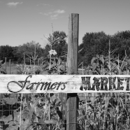 Rustic Farmers Market Sign For Your Garden