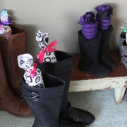 Pool Noodles Repurposed Into Pretty Boot Supports
