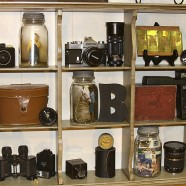 Shelf Makeover For A Vintage Camera Display