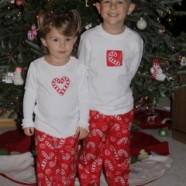 Appliqued Candy Cane Shirts and Pajama Pants – Making One Of A Kind Christmas Jammies
