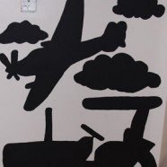 Functional Chalkboard Wall Art – A Tractor And Airplane Example
