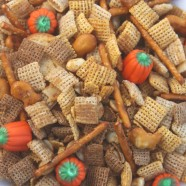 Homemade Chex Mix Made Fun and Festive With Goldfish and Candy Pumpkins