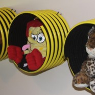 Creative Storage In Your Kids Room – Turn Large Rubber Hose Into Cute Stuffed Animal Shelves