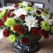 Make Three Beautiful Christmas Flower Arrangements Including A Centerpiece With Under $15.00