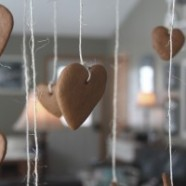 Make And Hang Gingerbread Hearts – An Inexpensive Valentines Day Kid's Craft