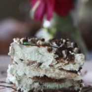 Super Simple Mint Grasshopper Ice Cream Cake