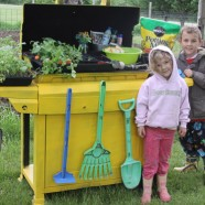 Repurpose An Old Grill Into A Garden Storage Cart