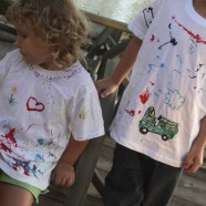 Summer Fun Activity – Kid Decorated Play Shirts