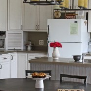 Kitchen Backsplash Using Beadboard Wallpaper- Transform Your Home On A Budget