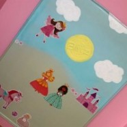 Magnetic Wall Art And Interactive Princess Toy