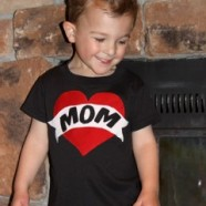 Apliqued Mom Tattoo Shirts For Brother And Sister