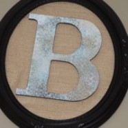 Make A Simple Monogrammed Wall Decoration