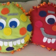 Kid's Halloween Craft – Fleece Monster Tie Pillows