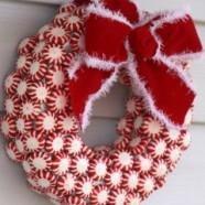 Mini Peppermint Candy Wreath