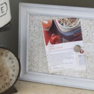 Make Your Own Magnetic Recipe Holder