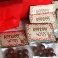 Fun Christmas Gift For Kids To Give Classmates – Reindeer Noses Treat Bag