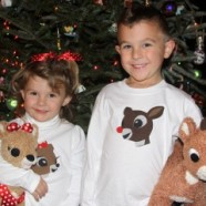 Rudolph And Clarice Appliqued Shirts And Easy Pajama Pants
