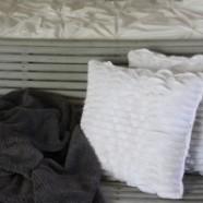 Repurposed Tank Top To Ruffled Pillows