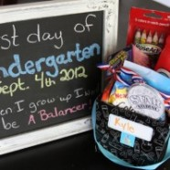 First Day of School Chalkboard Photo And An After School Surprise