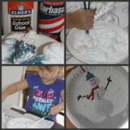 Snow Fun Activity For Kids- Use Snow Paint To Create 3D Winter Scenes And Snowmen