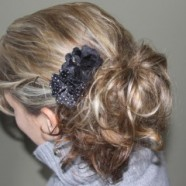 Fancy Five Minute Hairstyle Using Overnight Sock Bun Curls