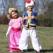 Kid's DIY Princess Toadstool And Princess Peach Costumes
