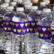 DIY Customized Water Bottles Using Decorative Tape