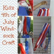 Kids Craft – July Fourth Windsock